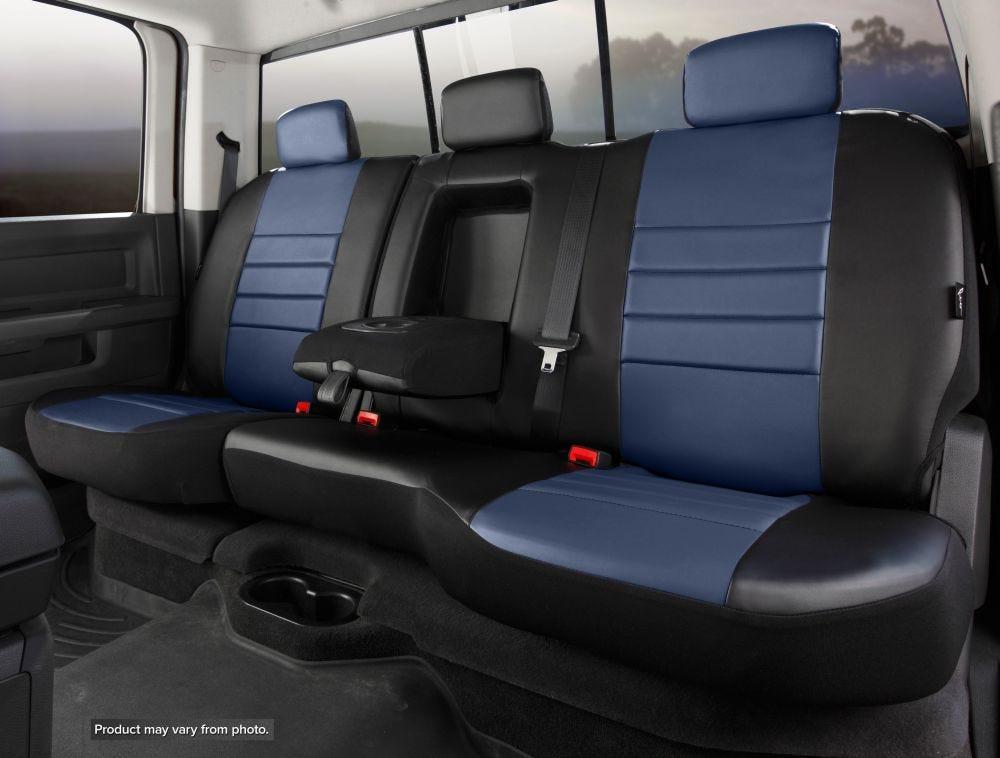 Black w Insert FIA SL62-64 RED Custom Fit Cover Rear Split Seat 60//40-Leatherette