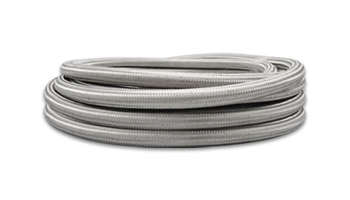 5ft Roll of ; AN Size: -6; Hose ID 0.34 Vibrant Performance 11936 Stainless Steel Braided Flex Hose