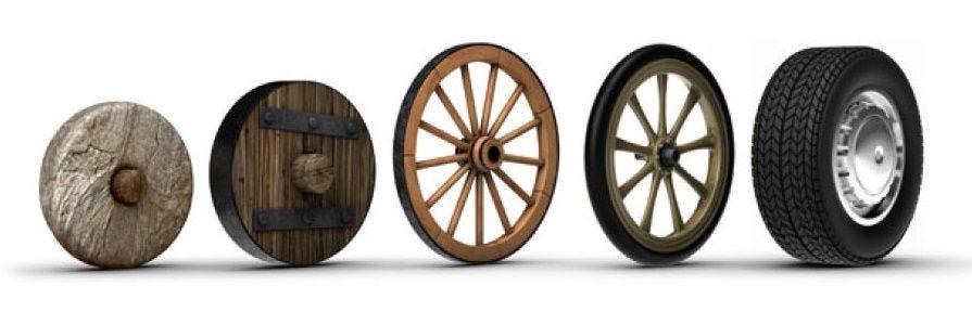 evolution of wheels