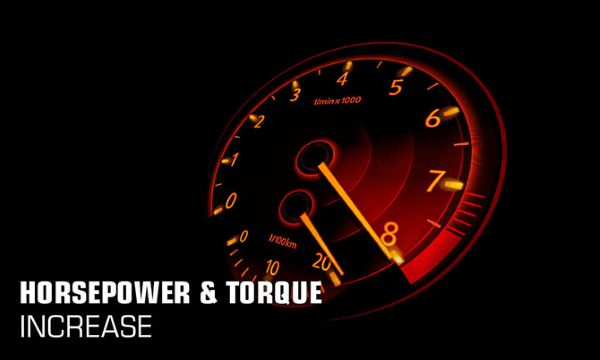 increased horsepower and torque